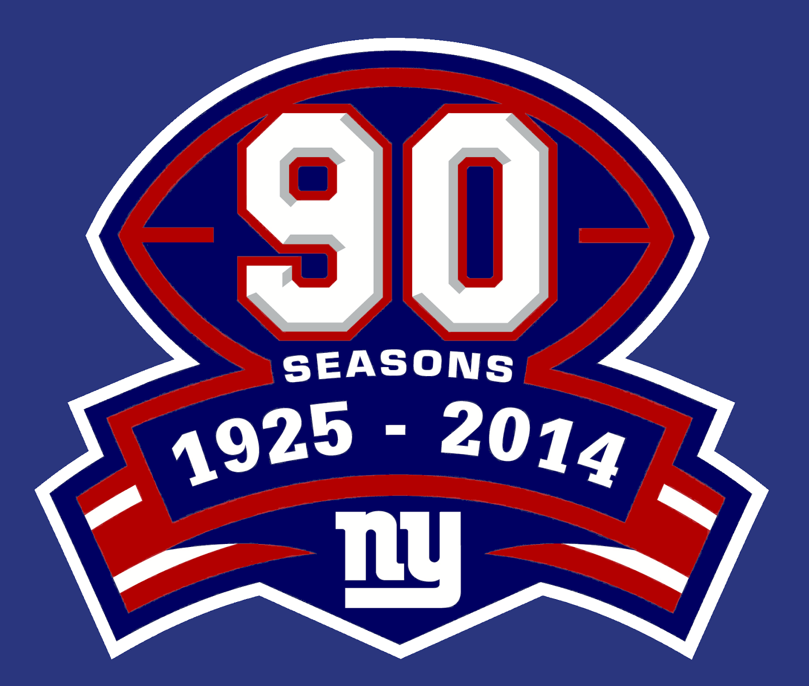 A Look At The New York Giants 90th Anniversary Logo World Of Sports