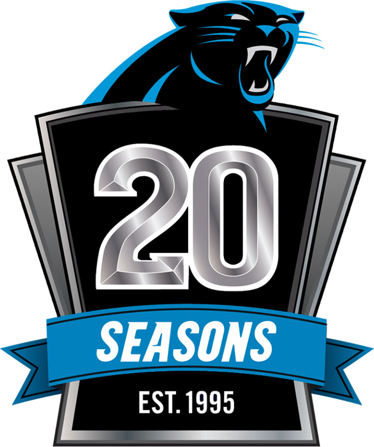 huge discount 116f0 c40f7 carolina panthers 20th anniversary patch